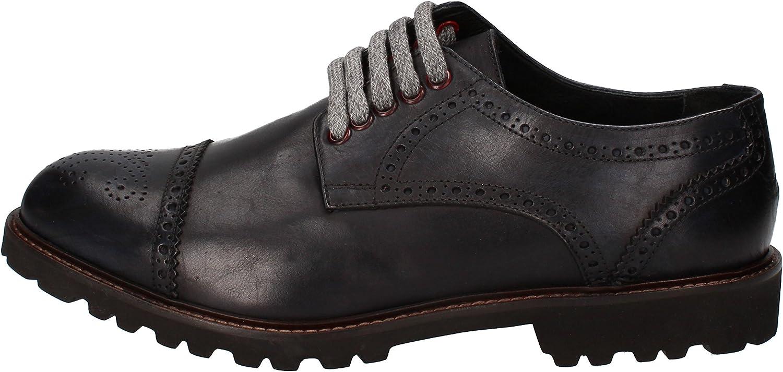 LE VIVALDI Elegante Schuhe Herren Leder schwarz