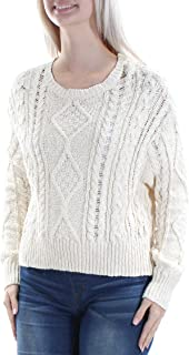 Ralph Lauren Denim & Supply Cable-Knit Crew Neck Sweater-Ivory-X-Large