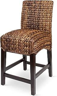 wicker high back bar stools