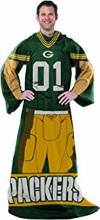 THE NORTHWEST COMPANY NFL Green Bay Packers Full Body Player Comfy Throw