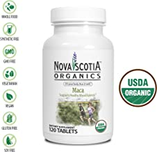 Nova Scotia Organics Maca (120 Tables); Certified Organic; Vegan; Organic Maca Root