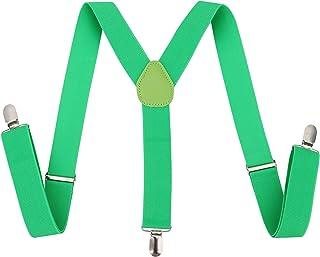 dc4fd991917 Halconia Men   Women s Classic Dapper Suspenders w Heavy Duty Metal Clips