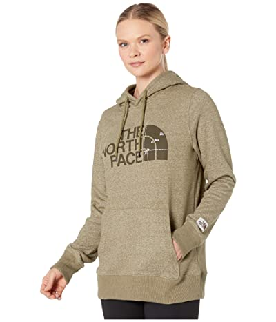 The North Face Recycled Materials Pullover Hoodie (Burnt Olive Green Heather) Women