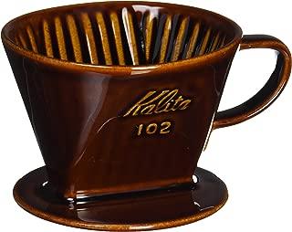 Kalita Ceramic Coffee Dripper (Brown) for 2-4 Cups