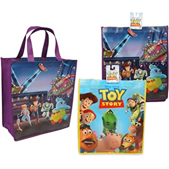 Toy Story Shopping Bag Buuzz /& Woody Woven Tote Bag