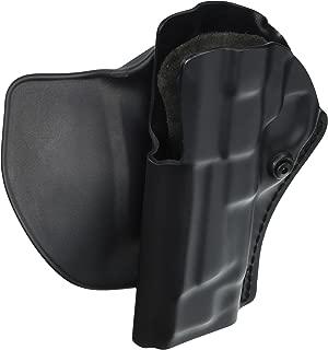 Safariland 5198 Open Top Paddle & Belt Slide with Detent Belt Loop Holster, Plain Black, Left Hand