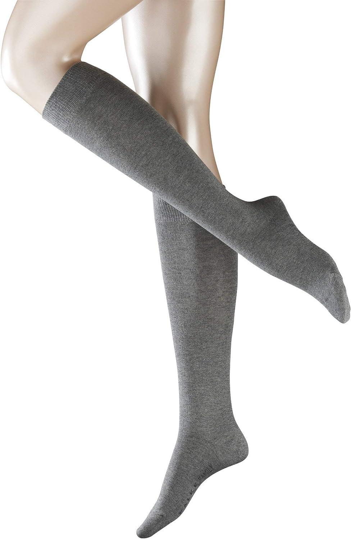 FALKE Womens Family Knee-High Socks Cotton Black White More Colors 1 Pair