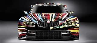BMW ART CAR Le Mans Gt M3 M5 Sports CAR Large Poster 58x26 German Auto Race M4