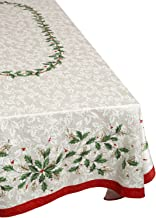 Lenox Golden Holly 60-inch by 104-inch Oblong/Rectangle Tablecloth