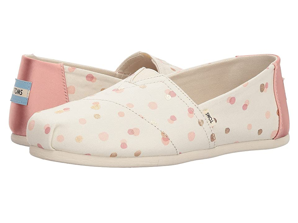 TOMS Alpargata (Pale Blush Metallic Party Dots (Vegan)) Women