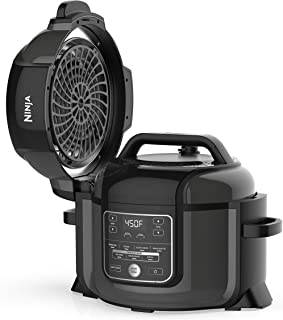 Ninja Foodi 9-in-1 Pressure, Broil, Slow Cooker, Air Fryer, and More, with 6.5 Quart Capacity and 45 Recipe Book, and a Hi...