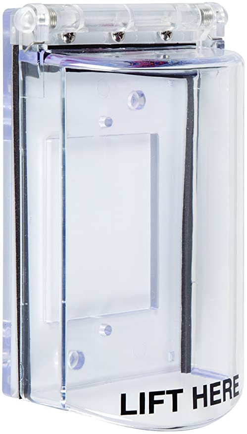 Safety Technology International, Inc. STI-6518 Bopper Stopper with Spring Loaded Hinge - Clear Protective Cover