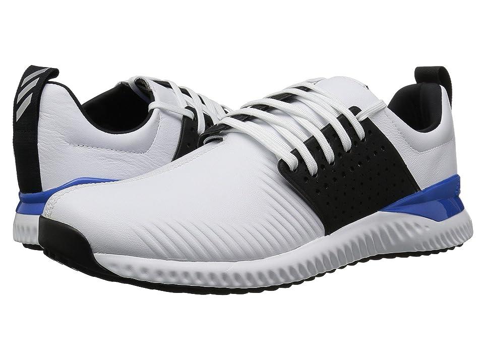 adidas Golf Adicross Bounce (Footwear White/Core Black/Blue) Men