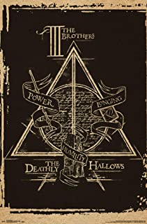 Trends International Wizarding World: Harry Potter-The Deathly Hallows-The III Brothers-Symbol Clip Bundle Wall Poster, 22.375