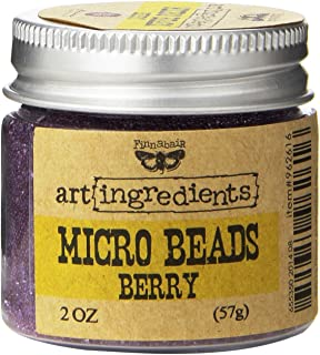 Prima Marketing Finnabair Art Ingredients Micro Beads, 2 oz, Berry