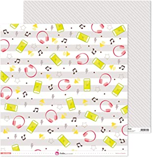 Anita y Su Mundo Collection de filles Papiers de scrapbooking, papier, musique, 30,5 x 30,5 cm
