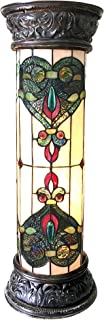 Chloe CH18767IV30-PL2 Dulce Tiffany-Glass Victorian Pedestal Light Fixture with 30