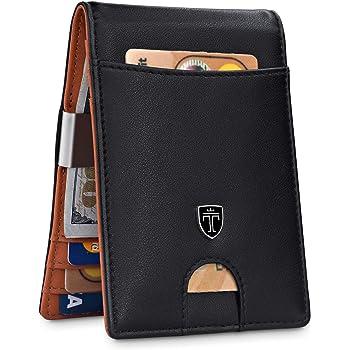"TRAVANDO Money Clip Wallet""RIO"" - Mens Wallets slim Front Pocket RFID Blocking Card Holder Minimalist Mini Bifold Gift Box"