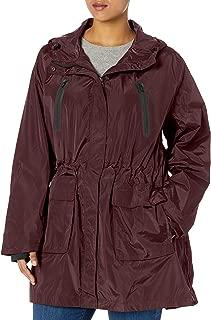 Calvin Klein Women's Plus Size Hooded Jacket W/Bonded Pockets
