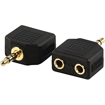 Valueline AC-012GOLD adaptateur avec fiche Jack 3,5mm stéréo male ET 2x fiche jack 3,5mm stéréo femelle contacts or