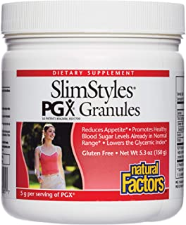 PGX by Natural Factors, SlimStyles Granules, Supports Healthy Weight Management, Plant-Based Dietary Supplement, 5.3 oz (3...