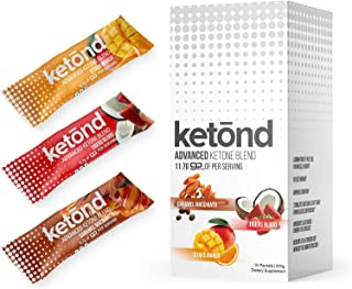 Ketond Advanced Ketone Supplement - 15 'On The Go' Packs - Exogenous Ketone Supplement 11.7g of BHB Salts to Lose Weight, Increase Energy & Focus (Citrus Mango, Tigers Blood, Caramel Macchiato)