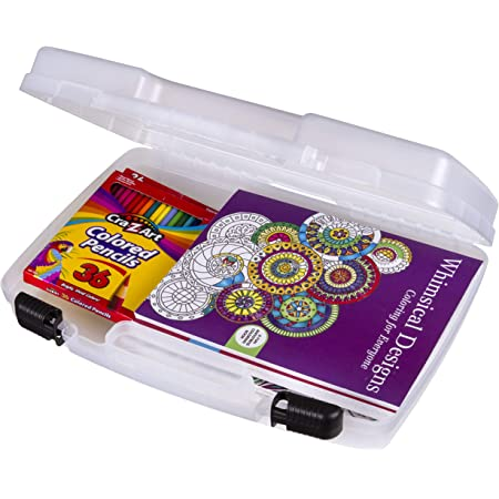 Translucent Clear ArtBin Medium Quick View Carrying Case with Standard Base