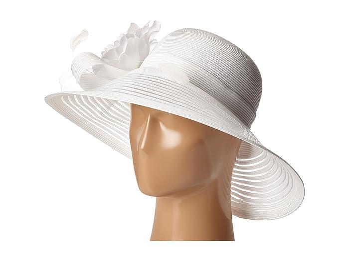 Edwardian Hats, Titanic Hats, Tea Party Hats Betmar Lanna White Caps $65.00 AT vintagedancer.com
