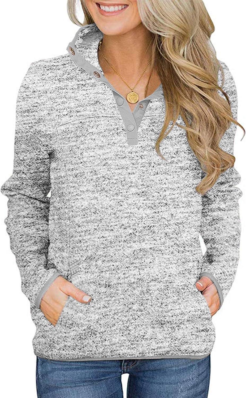 Brand new Romanstii Women's Casual Fleece Color Slee Ranking TOP19 Long Block Sweatshirt