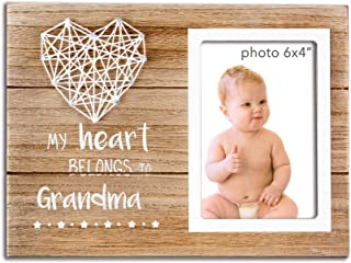 VILIGHT New Grandma Gifts for Nana - Rustic Picture Frame for Grandmother to Be - 4x6 Inches Photo