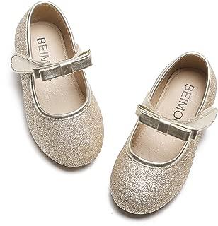 BEIMOO Girls Flat Mary Jane Shoes Slip-on School Party Dress Ballerina Shoe Toddler//Little Kids