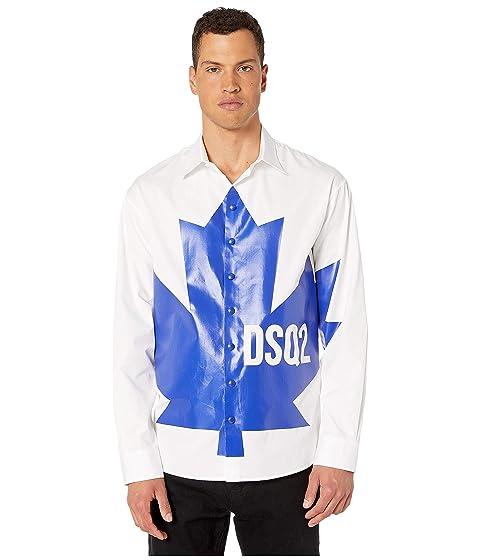 DSQUARED2 Artic Rave Maple Leaf Button Up Shirt