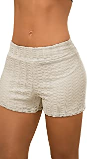 Womens Casual Floral Print Tassles Crochet Lace Shorts