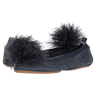 Yosi Samra Marry Me Marabou (Sapphire Leather/Pom) Women