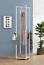 Kings Brand Furniture - Bennett Metal Entryway Garment Clothes Coat & Hat Rack, White