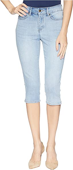 NYDJ Skinny Capris w/ Palm Tree Embroidery in Clean Cloud Nine