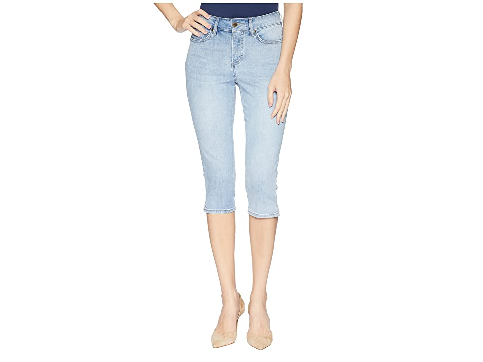 NYDJ Skinny Capris w/ Palm Tree Embroidery in Clean Cloud Nine (Clean Cloud Nine) Women's Jeans