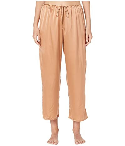 Skin Rosetta Silk Ankle Pants (Cinnamon) Women
