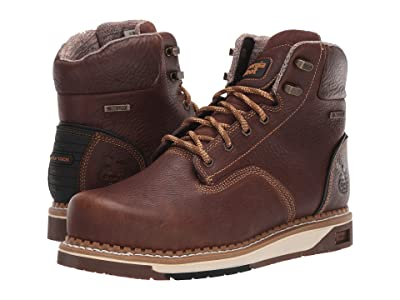 Georgia Boot AMP LT Wedge Steel Toe Waterproof 6 Work Boot (Dark Brown) Men