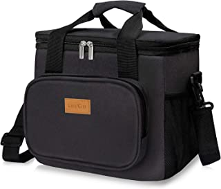 Lifewit Large Lunch Bag Insulated Lunch Box Soft Cooler Cooling Tote for Adult Men Women, 24-Can (15L), Black