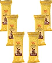 Burt's Bees For Cats Natural Dander Reducing Wipes   Kitten and Cat Wipes For Grooming, 50 Count - 6 Pack