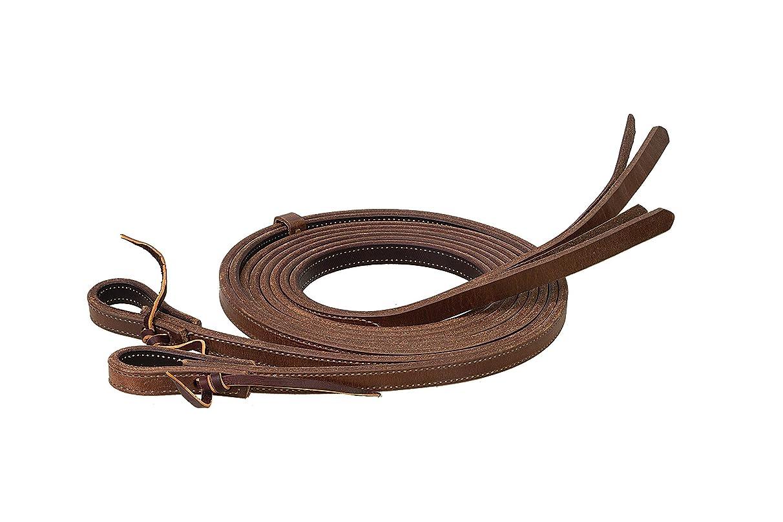 Weaver Leather ProTack Chap Lined Harness Leather Split Rein, 5/8-Inch x 8-Feet, Russet/Black (Renewed)