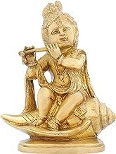 ShalinIndia India Statue Hinduism Dcoration Lord Krishna Religious Puja Items 7.75 Inch 1.8 Kg