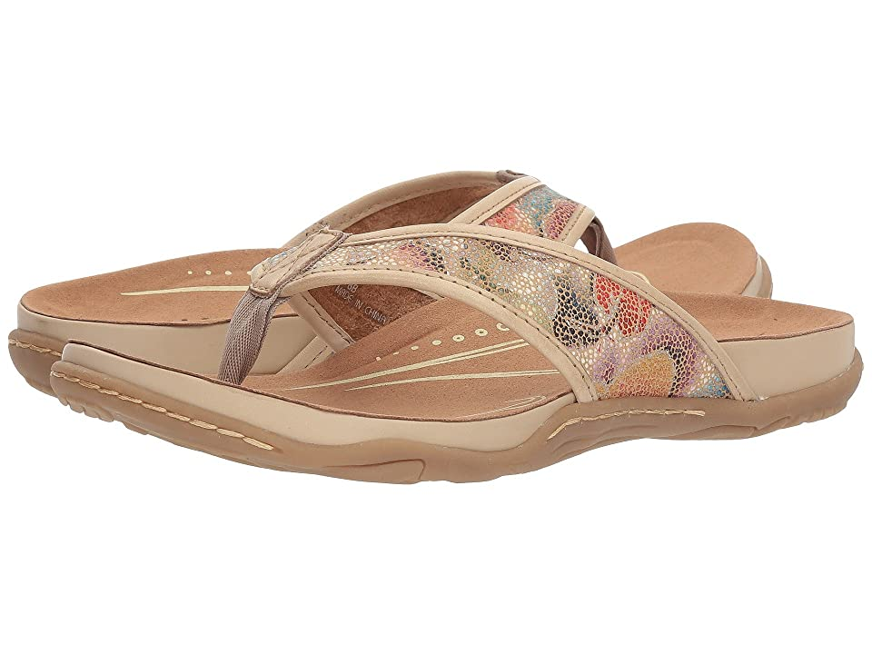 Earth Maya (Beige Floral Printed Suede) Women