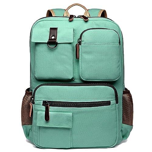 aa0b8f21165d School Backpack Vintage Canvas Laptop Backpacks Men Women Rucksack  Bookbags