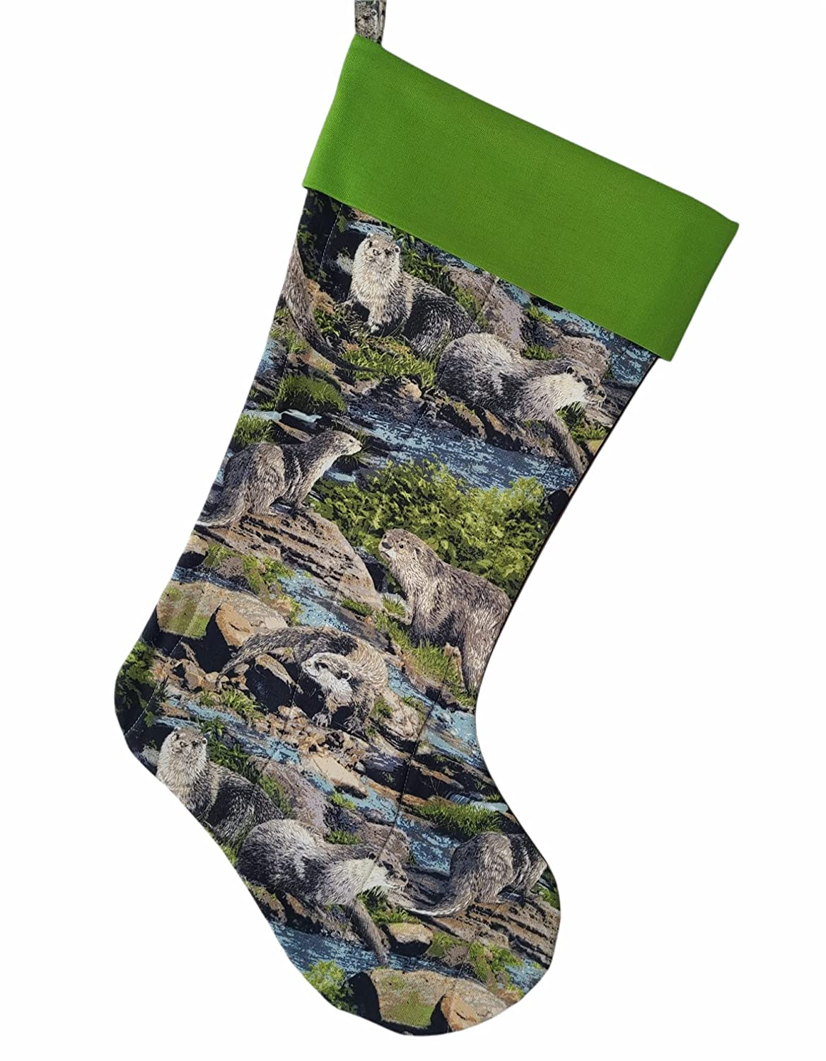 Otters Quilted New Orleans Mall Super beauty product restock quality top Stocking Christmas