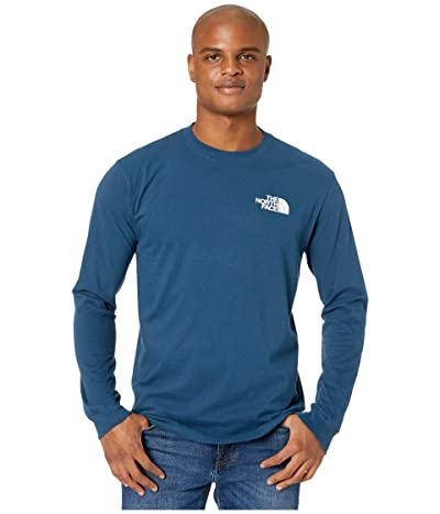 The North Face Long Sleeve Red Box T-Shirt (Blue Wing Teal) Men