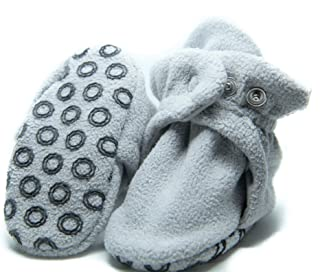 Baby Booties with Non Skid Bottom - Organic Cotton and Fleece