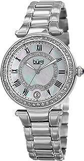 Bürgi Burgi Women'S White Dial Stainless Steel Band Watch - Bur165Ss