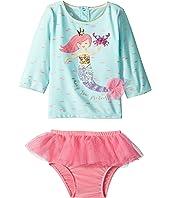 Mermaid Two-Piece Rashguard Swimsuit Set (Infant)